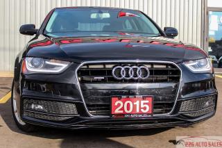 Used 2015 Audi A4 Progressiv plus|ACCIDENT FREE|BACKUP CAMERA for sale in Brampton, ON
