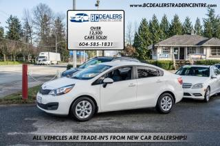 Used 2014 Kia Rio GDI, Local, No Declarations, 15 Service Records, Bluetooth for sale in Surrey, BC