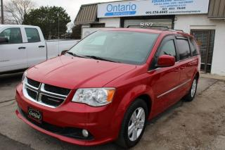 Used 2012 Dodge Grand Caravan Crew Navigation Back camera Power sliding doors & tailgate for sale in Mississauga, ON