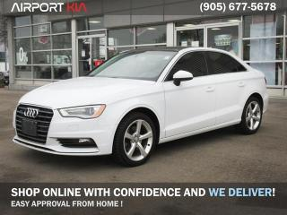 Used 2015 Audi A3 2.0T Komfort/WE ARE OPEN, BOOK YOUR APPOINTMENT/ Winter Tires Included/Sunroof/Leather interior/dual climate/Heated seats for sale in Mississauga, ON
