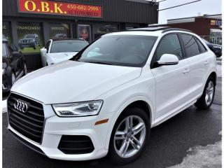 Used 2017 Audi Q3 Quattro-2.0T-TOIT PANO-CAM RECUL-BLUETOOH-Komfort for sale in Laval, QC