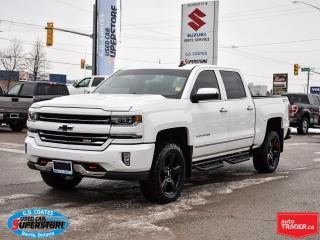 Used 2018 Chevrolet Silverado 1500 LTZ Z71 Crew Cab 4x4 ~Nav ~Camera ~Leather ~Roof for sale in Barrie, ON