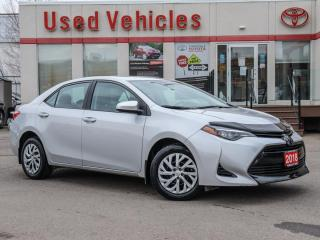 Used 2018 Toyota Corolla LE CAM HEAT-SEATS TOYOTA WARRANTY for sale in North York, ON