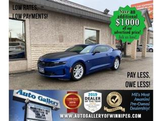 Used 2019 Chevrolet Camaro 1LT* LOW KMS/TURBO/Apple CarPlay/REMOTE START for sale in Winnipeg, MB