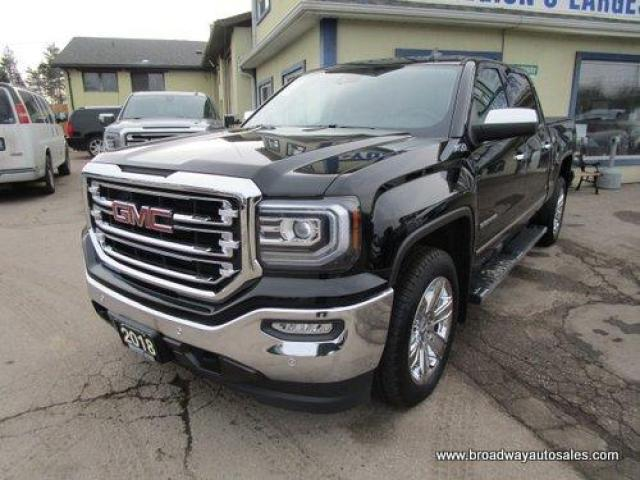 2018 GMC Sierra 1500 LIKE NEW SLT-Z71 EDITION 5 PASSENGER 5.3L - VORTEC.. 4X4.. CREW-CAB.. SHORTY.. NAVIGATION.. LEATHER.. HEATED/AC SEATS.. BACK-UP CAMERA.. SUNROOF..
