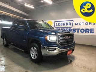 Used 2017 GMC Sierra 1500 SLE 4WD Crew Cab 5.3L V8 * Tonneau Cover * Line X Spray In Bed Liner * Heated Seats * Back Up Camera * Cruise Control * Steering Wheel Controls * Hand for sale in Cambridge, ON