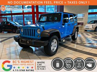 Used 2017 Jeep Wrangler Unlimited Sport - No Accident / Local / One Owner for sale in Richmond, BC