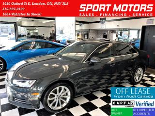Used 2017 Audi A4 Progressiv AWD+Camera+GPS+ApplePlay+ACCIDENT FREE for sale in London, ON