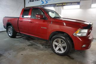 Used 2009 Dodge Ram 1500 V8 HEMI CERTIFIED 2YR WARRANTY *1 OWNER*FREE ACCIDENT* LEATHER BLUETOOTH CRUISE CHROME BED COVER for sale in Milton, ON