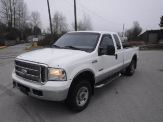 Used 2006 Ford F-250 SD XLT SuperCab Long Box 4WD Diesel for sale in Burnaby, BC