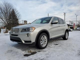 Used 2011 BMW X3 AWD *NAV*TOIT PANORAMIQUE*BT* 70$/SEM for sale in St-Jérôme, QC