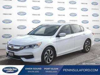 Used 2016 Honda Accord LX - Bluetooth -  Heated Seats - $87 B/W for sale in Port Elgin, ON