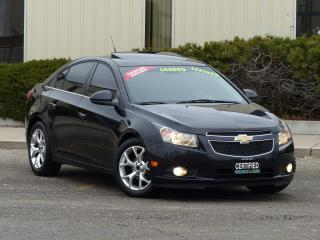 Used 2012 Chevrolet Cruze LTZ,LEATHER,SUNROOF,LOADED,NO-ACCIDENT,CERTIFIED for sale in Mississauga, ON