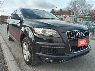 Used 2012 Audi Q7 S LINE -7 SEATS-LEATHER-PANOROOF-NAVI-BK UP CAM for sale in Scarborough, ON