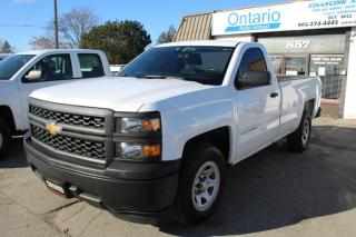 Used 2015 Chevrolet Silverado 1500 Reg Cab 8ft Long box Back camera Bluetooth for sale in Mississauga, ON