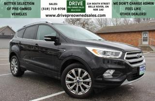 Used 2017 Ford Escape Titanium 4x4 Heated Leather Moon Roof CarPlay Backup Cam Low K's for sale in Belle River, ON