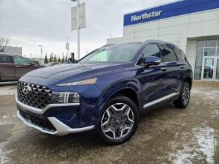 New 2021 Hyundai Santa Fe ULTIMATE: 2.5L TURBO/BLINDVIEW MONITOR/BLUELINK/HEATED AND COOLED SEATS/POWER LIFTGATE for sale in Edmonton, AB