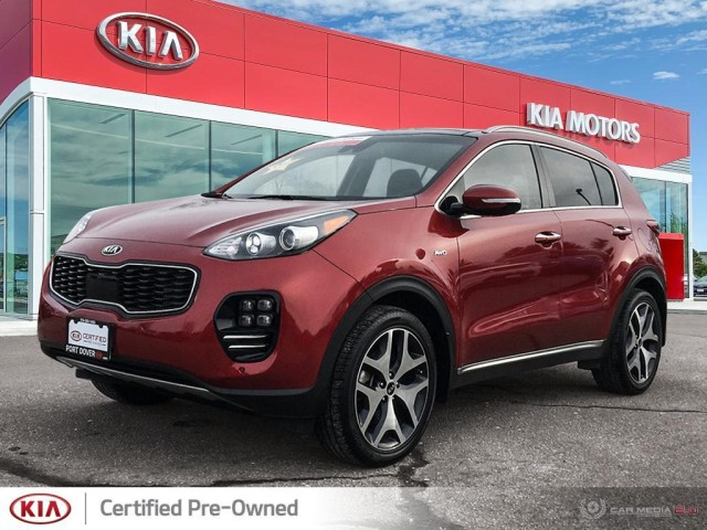 2017 Kia Sportage 2.0L SX Turbo AWD Black Leather