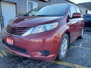 Used 2015 Toyota Sienna LE-8 PASS-REAR CAMERA-PWR SLIDING DOORS-BLUETOOTH for sale in Tilbury, ON