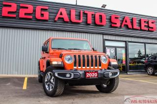 Used 2020 Jeep Wrangler Sahara|ACCIDENT FREE|BACKUP CAM|LEATHER SEATS for sale in Brampton, ON