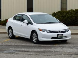 Used 2012 Honda Civic CERTIFIED,1-OWNER,LOW KMS,POWER OPTIONS,BLUETOOTH for sale in Mississauga, ON