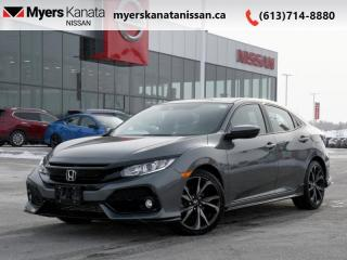 Used 2017 Honda Civic Hatchback Sport  - Sunroof -  Proximity Key for sale in Kanata, ON