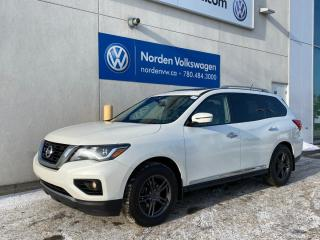 Used 2018 Nissan Pathfinder PLATINUM 4X4 - HTD + COOLED SEATS / EVERY OPTION for sale in Edmonton, AB