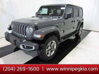 Used 2020 Jeep Wrangler Unlimited Sahara *Collision Free!* for sale in Winnipeg, MB