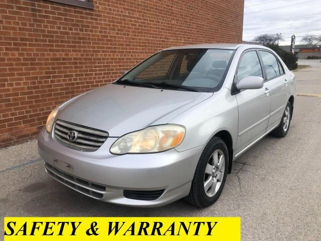 2003 Toyota Corolla CE/SAFETY AND WARRANTY