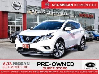 Used 2017 Nissan Murano Platinum   360 CAM   BSW   Monrof   PWR Liftgate for sale in Richmond Hill, ON