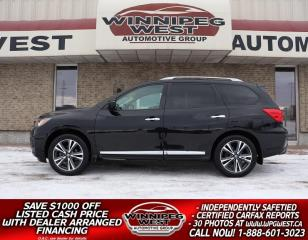 Used 2017 Nissan Pathfinder PLATINUM 4X4, LEATHER, TWIN ROOF, DVD, NAV, 7 PASS for sale in Headingley, MB
