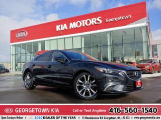 Used 2017 Mazda MAZDA6 GT | LTHR| NAV | ROOF| BU CAM | 34 KMS | B/T | HUD for sale in Georgetown, ON