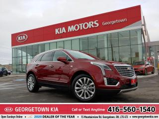Used 2017 Cadillac XT5 PLATINUM | LTHR | NAV | PANO ROOF | HTD SEATS |22K for sale in Georgetown, ON