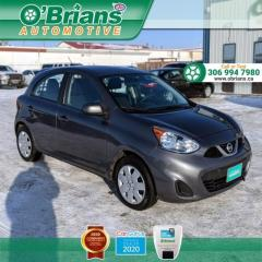 Used 2016 Nissan Micra SV - Low KM! w/Cruise Control, Air Conditioning for sale in Saskatoon, SK