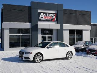 Used 2013 Audi A4 QUATTRO + GPS + CUIR + TOIT + INSPECTÉ for sale in Sherbrooke, QC