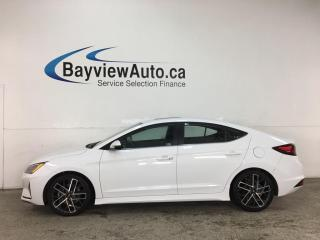 Used 2019 Hyundai Elantra Sport - SUNROOF! HTD LEATHER! ALLOYS! + MORE! for sale in Belleville, ON