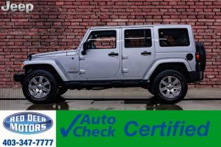 Used 2012 Jeep Wrangler Unlimited 4x4 Sahara Leather Nav for sale in Red Deer, AB