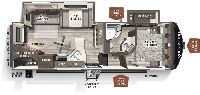 2021 Rockwood Ultra Lite 2621WS
