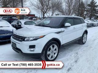 Used 2014 Land Rover Evoque PURE PLUS; RARE!!!, PANORAMIC SUNROOF, AWD, WINTER TIRES, WINTER/SUMMER TIRES/RIMS, HEATED SEATS/WHEEL, LEATHER, LEATHER, NAV, BACKUP CAMERA, BUTTON START, 3M, BLUETOOTH for sale in Edmonton, AB