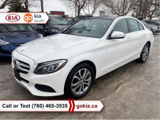 Used 2015 Mercedes-Benz C-Class C300 4MATIC; PANORAMIC SUNROOF, AWD, HEATED SEATS, LEATHER, NAV, BACKUP CAMERA, BUTTON START, BLUETOOTH for sale in Edmonton, AB