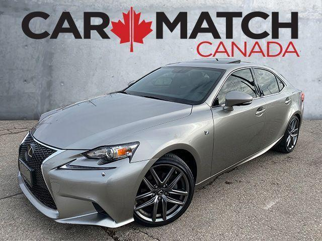 2015 Lexus IS 250 F SPORT 3 / NAV / ROOF / 34KM