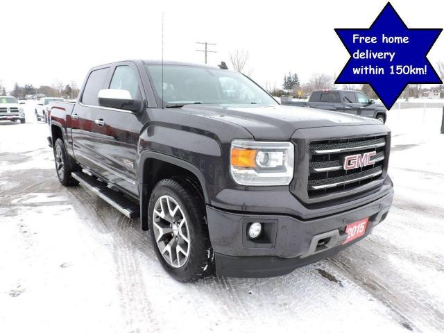 2015 GMC Sierra 1500 SLT 1 owner 4X4 5.3L Leather seats