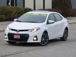 Used 2015 Toyota Corolla S,LEATHER,BACKUP CAMERA,LOADED,CERTIFIED,1-OWNER for sale in Mississauga, ON