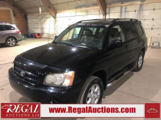 Used 2003 Toyota Highlander 4D Utility 4WD for sale in Calgary, AB