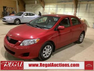 Used 2009 Toyota Corolla CE 4D Sedan for sale in Calgary, AB