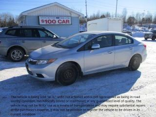 Used 2012 Honda Civic EX for sale in North Bay, ON