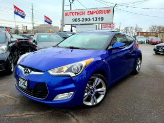 Used 2014 Hyundai Veloster TECH PKG Navigation/Leather/Sunroof/2 Tire Sets/Alloys for sale in Mississauga, ON