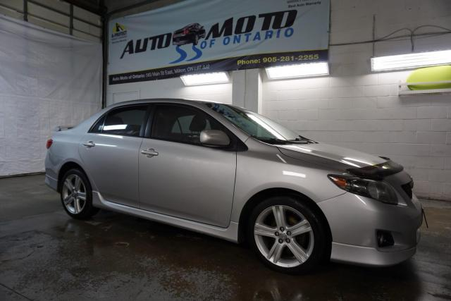 2009 Toyota Corolla XRS 5-Speed Heated Leather Sunroof Certified 2 YR Warranty Bluetooth Alloys