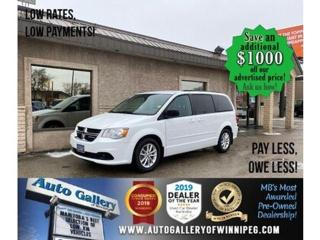 Used 2016 Dodge Grand Caravan SXT+* Stow & Go/ DVD Entertainment/REMOTE START for sale in Winnipeg, MB