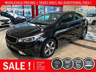 Used 2018 Kia Forte LX - Accident Free / Local / No Dealer Fees / Heated Seats for sale in Richmond, BC